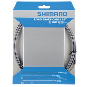 Shimano Road SIL-TEC Brake Cable Set Front Wheel/Rear Wheel, grey